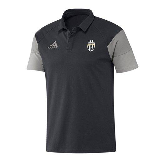 527fe61763e buy official 2016-2017 juventus adidas polo shirt (dark grey)