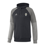 2016-2017 Juventus Adidas Hooded Sweat Top (Dark Grey)