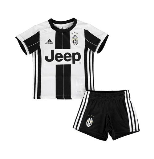 new product 2e3b5 02784 2016-2017 Juventus Adidas Home Baby Kit