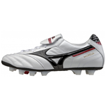 Mizuno Morelia Moulded Firm Ground Football (Pearl-Black-Red)