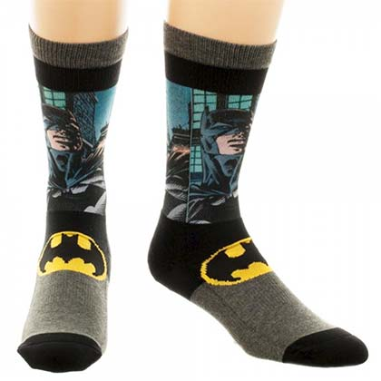 BATMAN Sublimated Panel Crew Socks