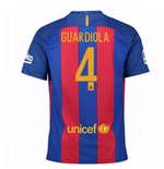 2016-17 Barcelona Sponsored Home Shirt (Guardiola 4)