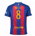 2016-17 Barcelona Sponsored Home Shirt (Iniesta 8) - Kids