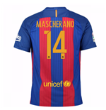 2016-17 Barcelona Sponsored Home Shirt (Mascherano 14)