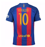 2016-17 Barcelona Sponsored Home Shirt (Rivaldo 10) - Kids