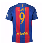 2016-17 Barcelona Sponsored Home Shirt (Suarez 9)