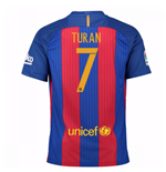 2016-17 Barcelona Sponsored Home Shirt (Turan 7)
