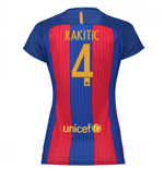 2016-17 Barcelona with Sponsor Womens Home Shirt (Rakitic 4)