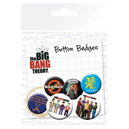 The Big Bang Theory Button Badge Set