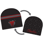 Throwdown - Black Beanie Red Logo Reversible