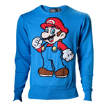 Nintendo - Mario.Blue.Knitted Sweater