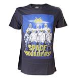 Space Invaders - Astronauts. Black Shirt