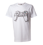 Playstation - T-shirt Men White Controller