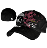Pike - Black Flex Cap w/ Skull & Bullet Patch