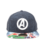 Marvel - Avengers Assemble Logo Snapback With Avengers Print On Bill