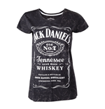 Jack Daniels - T-Shirt Female Marble Wash