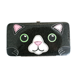 Freaks And Friends - Cat Glitter Face Hinge Wallet