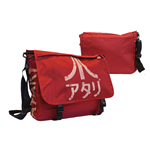 Atari - Dark Red Messenger Bag with Japanese Logo