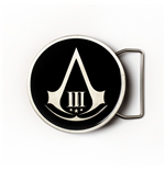 Assassin's Creed III - Black Round Buckle