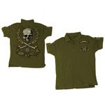 Till I Die' - Khaki. Mens Polo Shirt