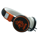 KNVB - Headphone Black/Orange