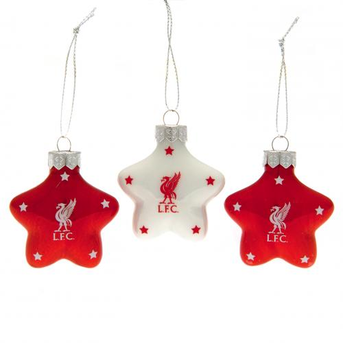 Liverpool F.C. 3pk Star Baubles