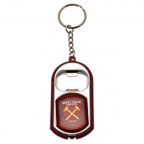 West Ham United F.C. Key Ring Torch Bottle Opener