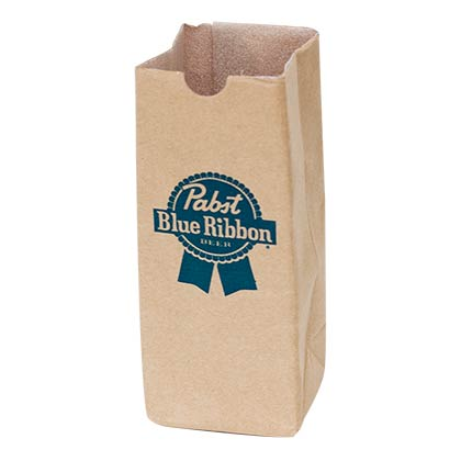 Pabst Blue Ribbon Paper Bag Koozie