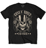 Guns N' Roses Men's Tee: Top Hat, Skull & Pistols Las Vegas