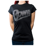 David Bowie Ladies Fashion Tee: Flash Logo