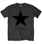 David Bowie Men's Premium Tee: Blackstar (on Grey)