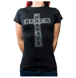 Black Sabbath Ladies Fashion Tee: Cross