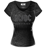 AC/DC Ladies Fashion Tee: Back in Black