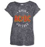 AC/DC Ladies Fashion Tee: Logo High Voltage