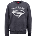 DC Comics Men's Sweatshirt: Superman Logo Spray
