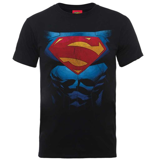 DC Comics Men's Tee: Superman Pectacular Logo