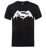 DC Comics Men's Tee: Batman v Superman Beaten Logo