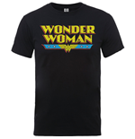 DC Comics Men's Tee: Wonder Woman Logo Crackle