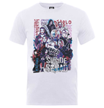 DC Comics Men's Tee: Suicide Squad Harley's Character Collage