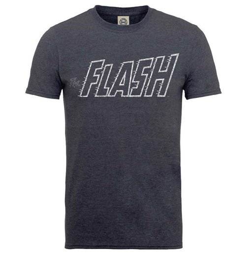 DC Comics Men's Tee: Originals Flash Crackle Logo