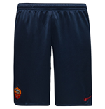 2016-2017 AS Roma Nike Longer Knit Shorts (Obsidian)