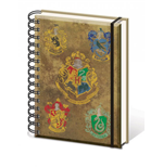 Harry Potter Notebook A5 Hogwart's Crests