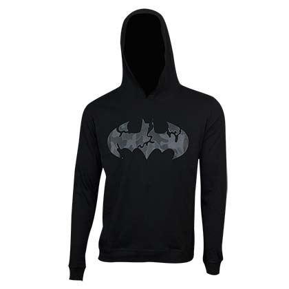 BATMAN Camo Logo Black Hooded Sweatshirt