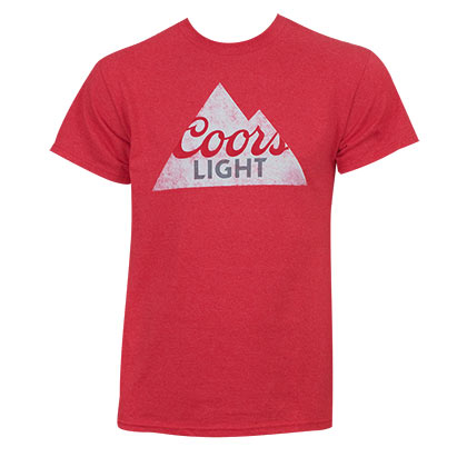 COORS Light Rocky Mountains Logo Red Tshirt