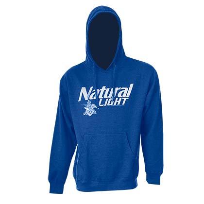 natty light logo royal blue hooded sweatshirt for only c