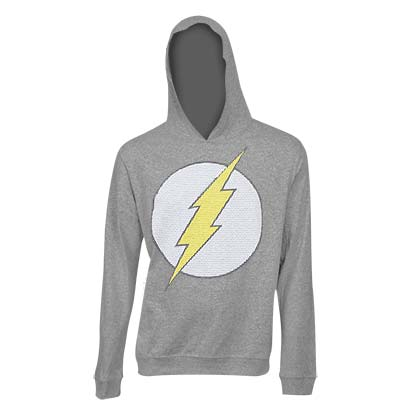 The FLASH Classic Logo Grey Hooded Sweatshirt