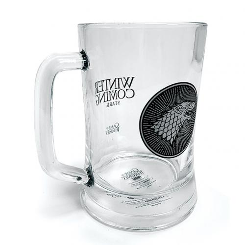 Game Of Thrones Glass Tankard Stark