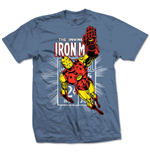 Marvel Comics T-Shirt Iron Man Stamp