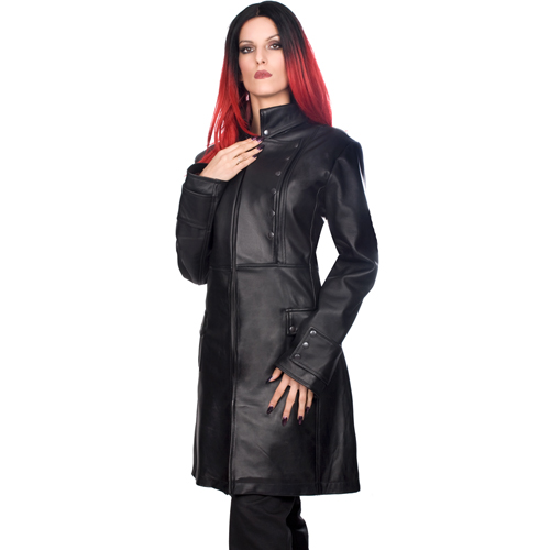 Mode Wichtig Ladys Military Coat Nappa Leather