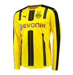 2016-2017 Borussia Dortmund Long Sleeve Home Puma Shirt (Kids)
